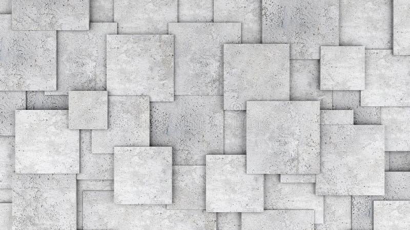 Конкретная стена куба 3d как предпосылка или обои стоковые изображения rf