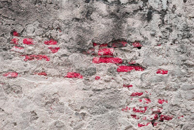 конкретная треснутая стена пустой старый кирпич Справочная информация стоковое фото rf