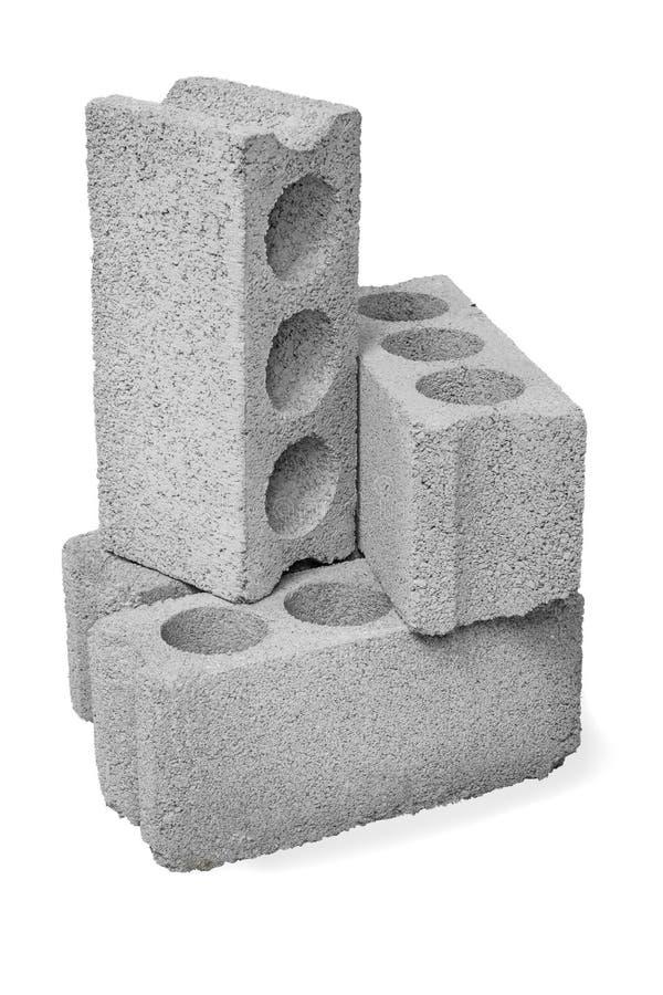 Конкретные полые блоки стоковая фотография rf