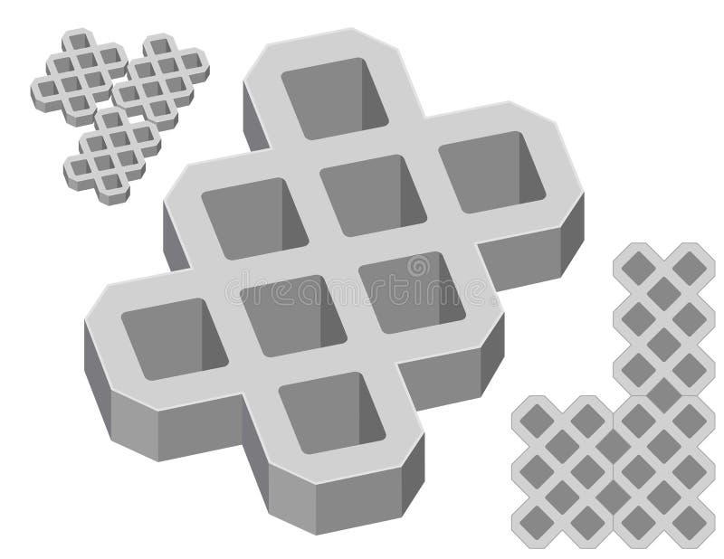 конкретные серые pavers бесплатная иллюстрация