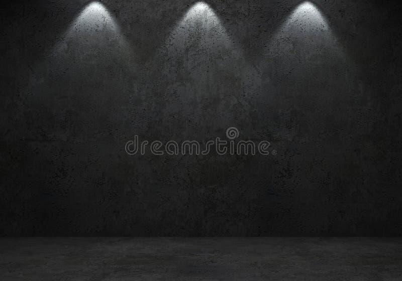 Конкретные темные стена и пол бесплатная иллюстрация