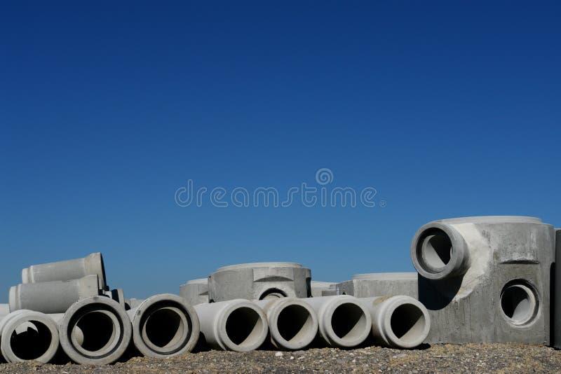 конкретные трубы стоковое изображение