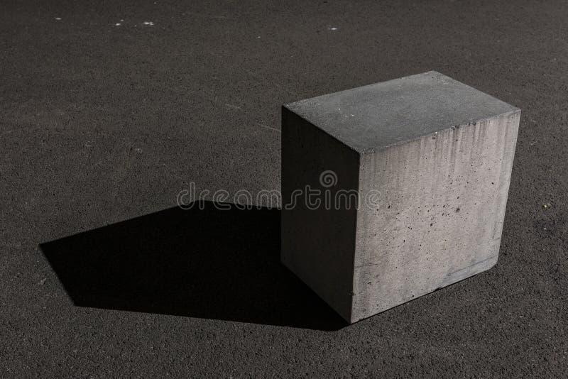 Конкретный блок куба стоковые изображения rf