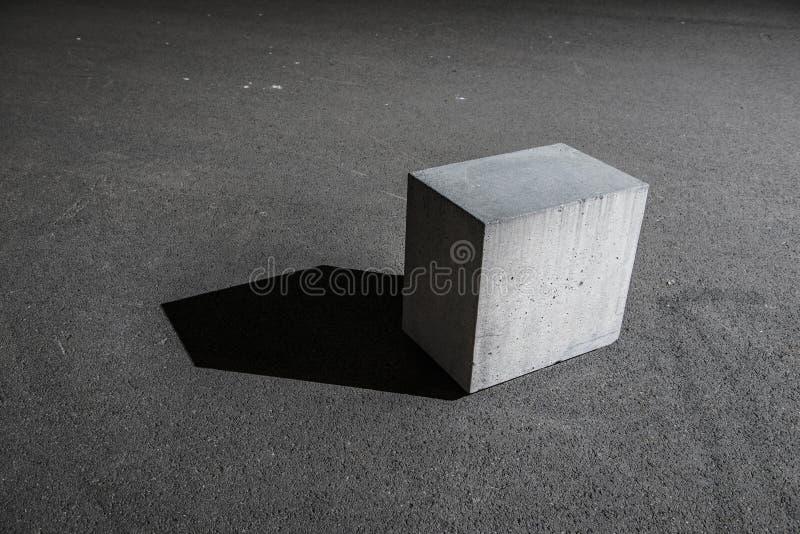 Конкретный блок куба стоковые фотографии rf