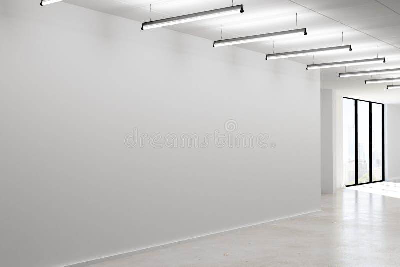 Конкретный интерьер с пустой стеной бесплатная иллюстрация
