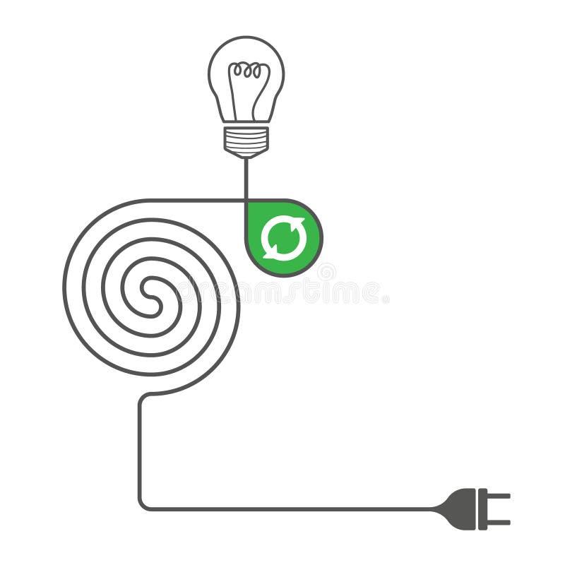 Конкретный объект вектора с темой энергии бесплатная иллюстрация
