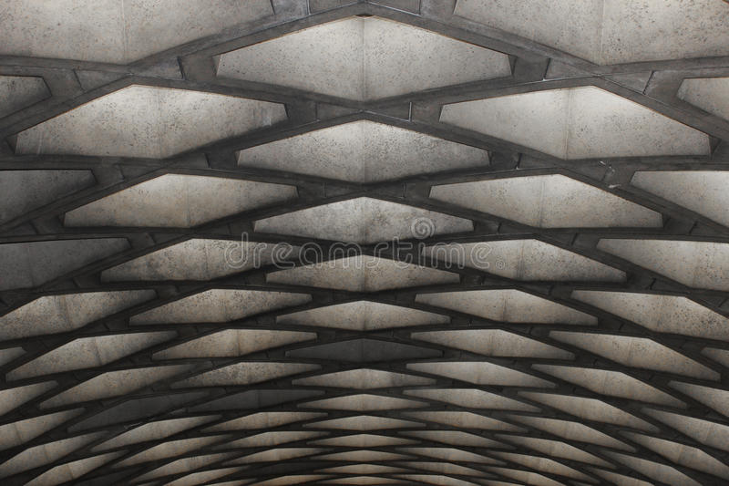 Конкретный потолок метро, Монреаль стоковые изображения rf