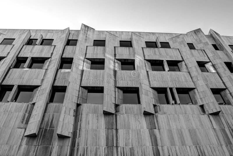 Конкретный фасад стоковое фото rf
