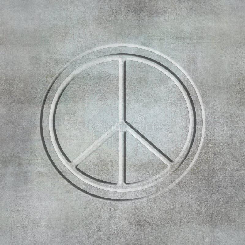 Конкретным символ мира выбитый стилем стоковое изображение