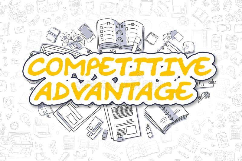 Конкурентное преимущество - концепция дела иллюстрация вектора