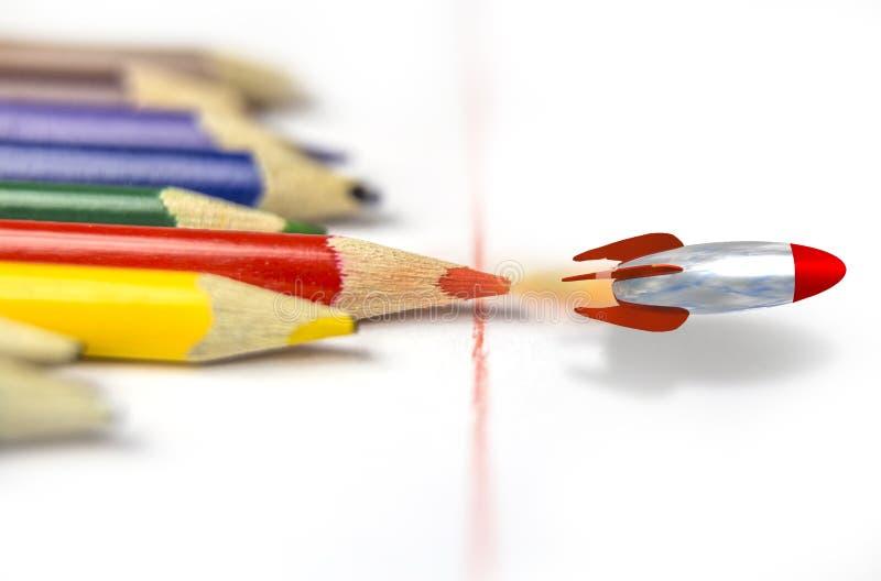 Конкурентное преимущество школы образования стоковое изображение rf