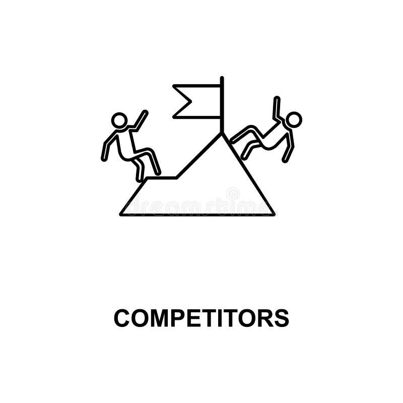 конкуренты выравнивают значок иллюстрация вектора