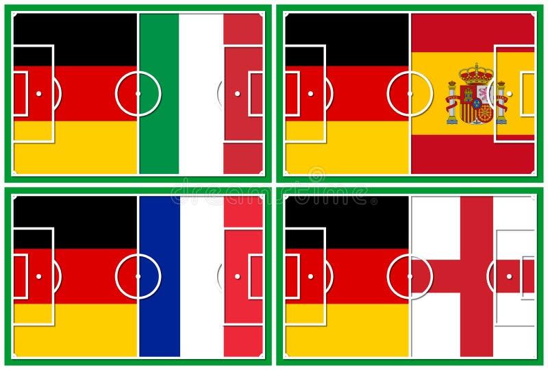 Конкуренты Германии четвертьфинала футбола бесплатная иллюстрация