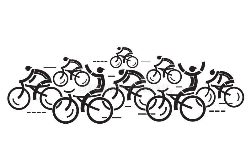 Конкуренты дороги задействуя бесплатная иллюстрация