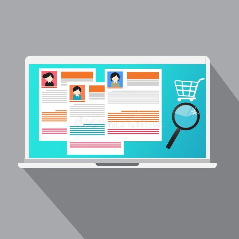 Конкуренты концепции вектора в рынке труда онлайн бесплатная иллюстрация