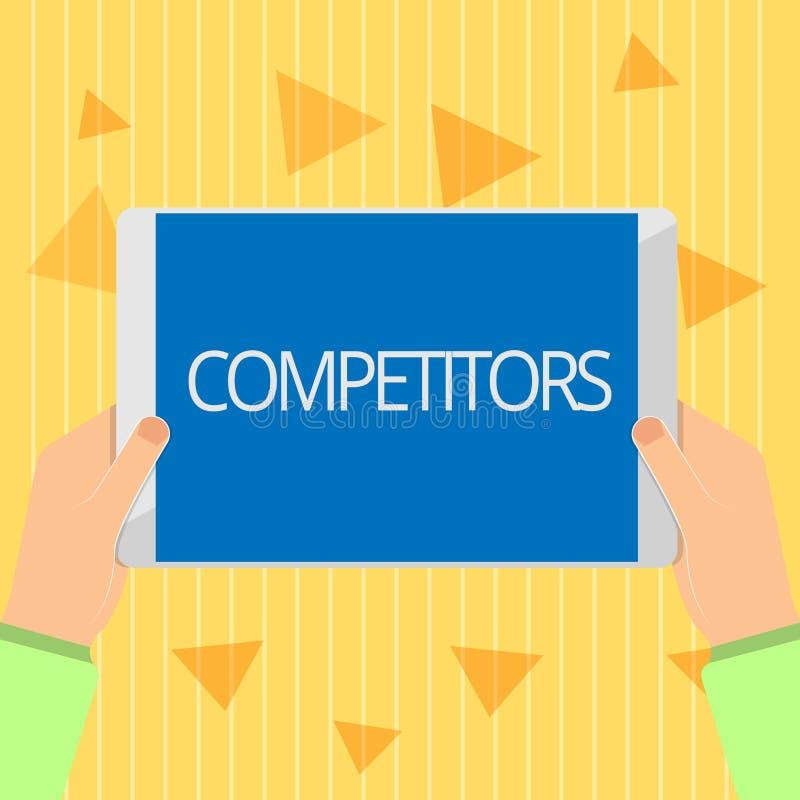 Конкуренты текста почерка Люди смысла концепции принимать конкуренция рекламы спортивного состязания бесплатная иллюстрация