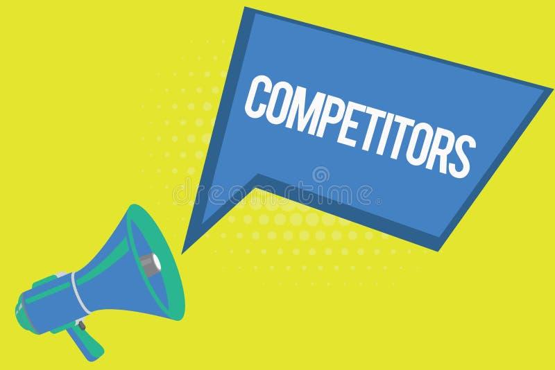 Конкуренты текста сочинительства слова Концепция дела для людей принимать конкуренция рекламы спортивного состязания бесплатная иллюстрация
