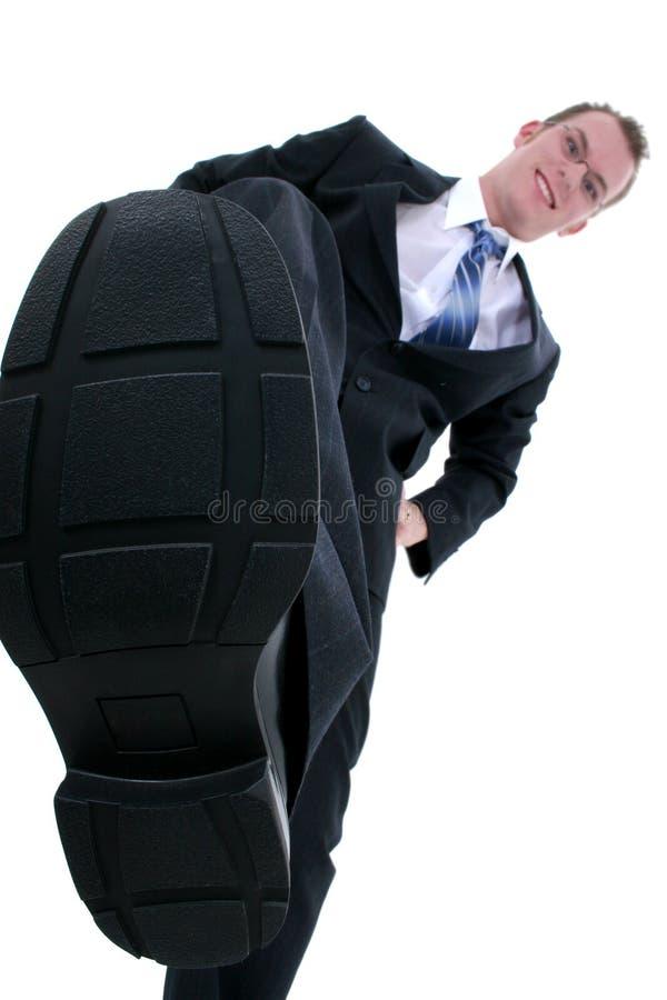 конкуренция бизнесмена вне stomping стоковое изображение rf