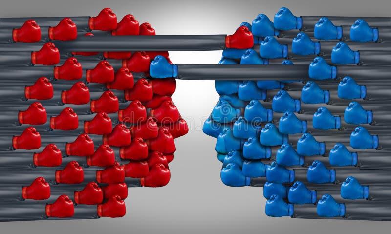 Конкуренция бизнес-группы иллюстрация штока