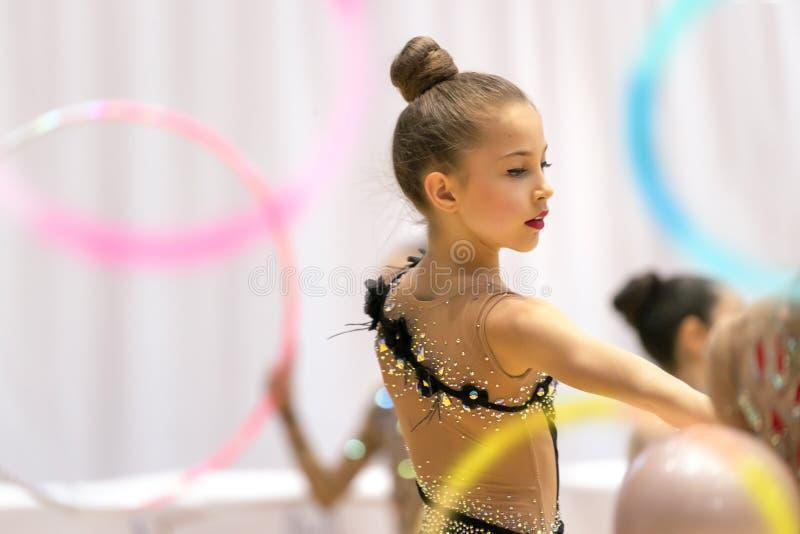 Конкуренция звукомерной гимнастики стоковое изображение rf