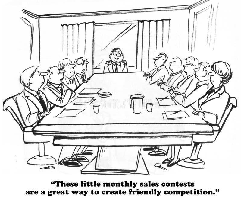Конкуренция продаж иллюстрация вектора