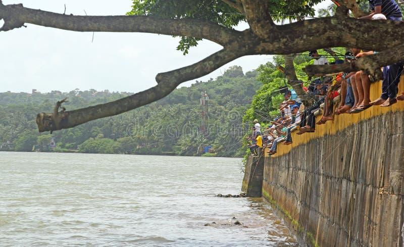 Конкуренция 1 рыбной ловли Goa стоковое изображение