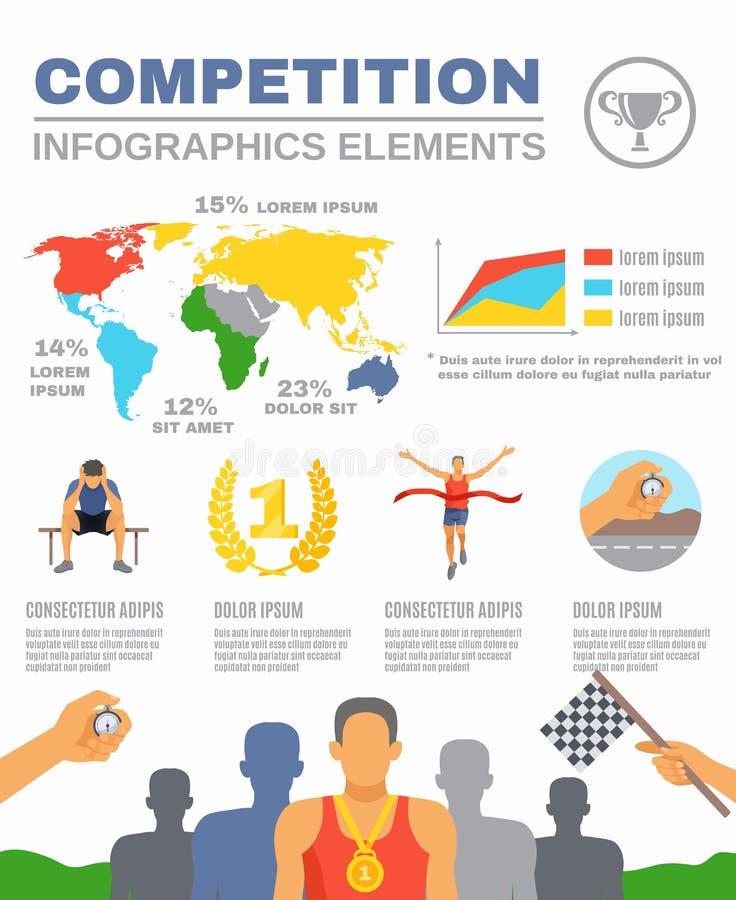 Конкуренция спорт Infographics иллюстрация вектора