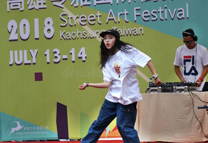 конкуренция танца Бедр-хмеля стоковые фотографии rf
