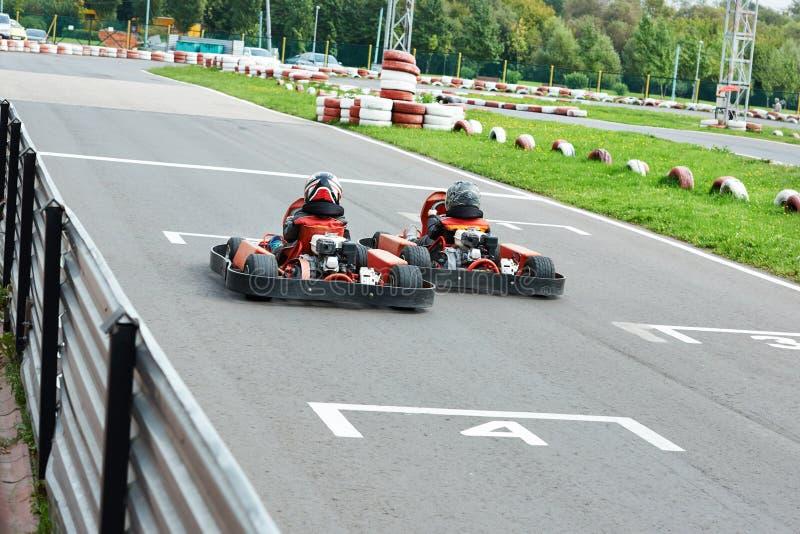 Конкуренция для детей karting стоковое изображение rf