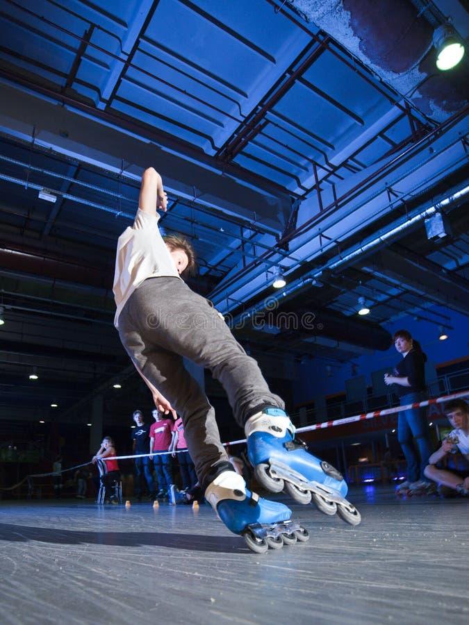 Конкуренция Rollerblading стоковые изображения