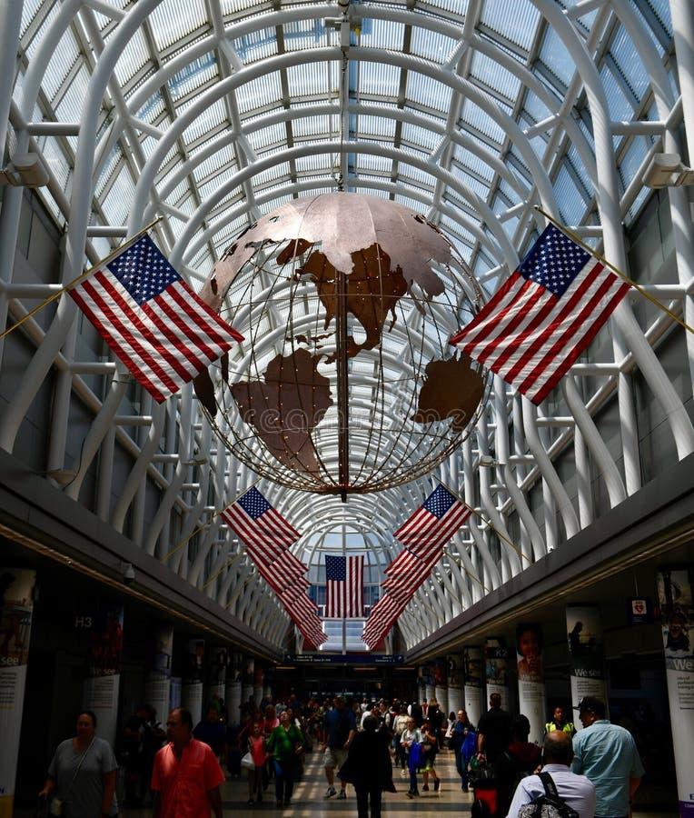 Конкурс международного аэропорта O'Hare стоковые фотографии rf