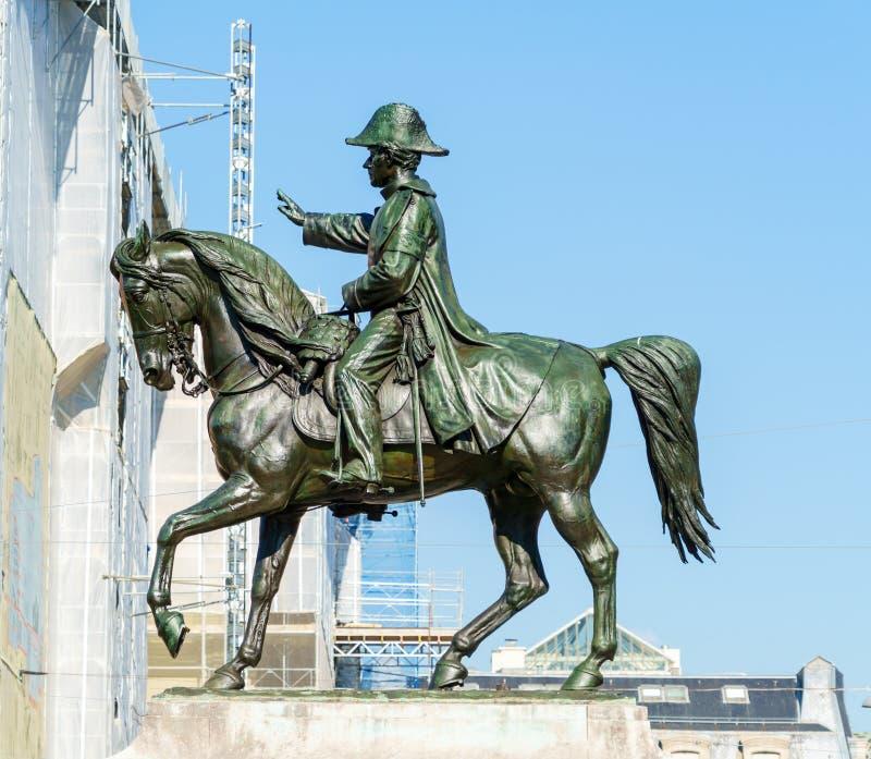 Конноспортивная статуя генерала Guillaume Henri Dufour, Женевы, Swi стоковое изображение