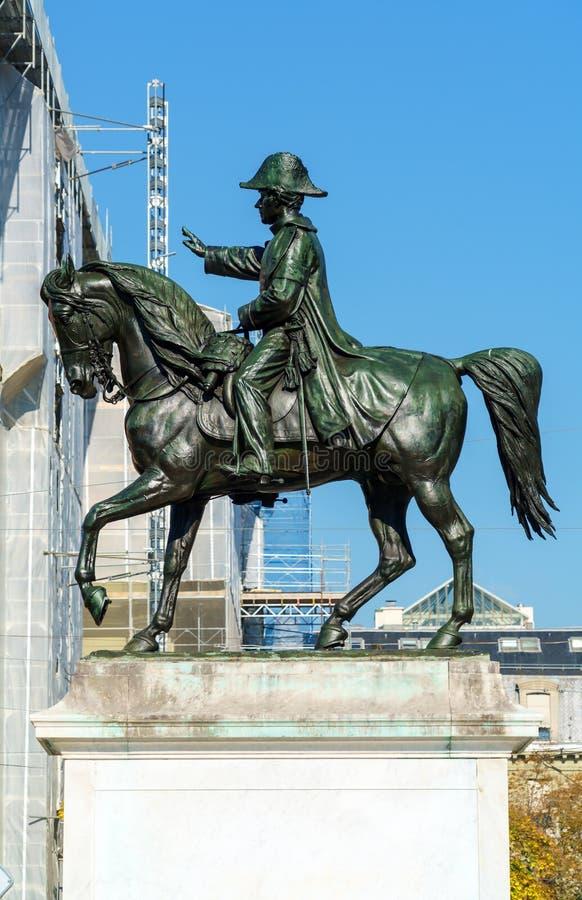 Конноспортивная статуя генерала Guillaume Henri Dufour, Женевы, Swi стоковые фотографии rf