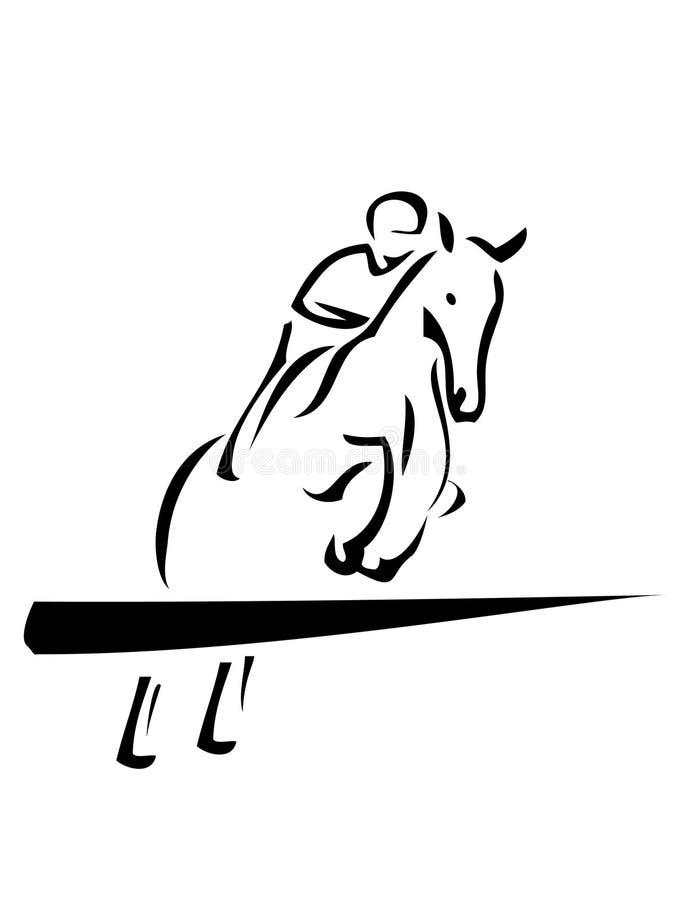 конноспортивный спорт иллюстрация вектора