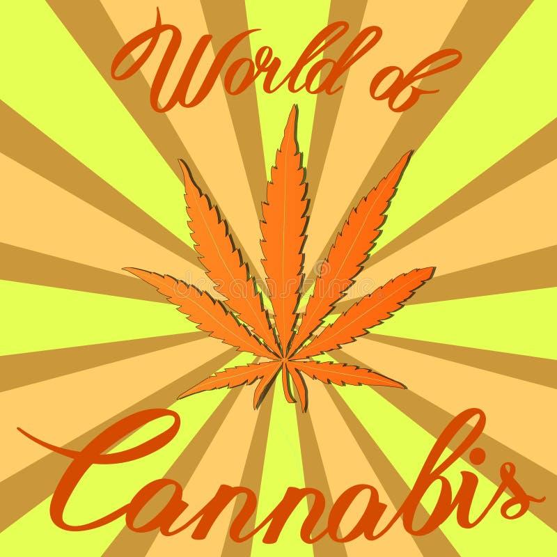 Конопля пеньки марихуаны sativa или конопля indica стоковые изображения