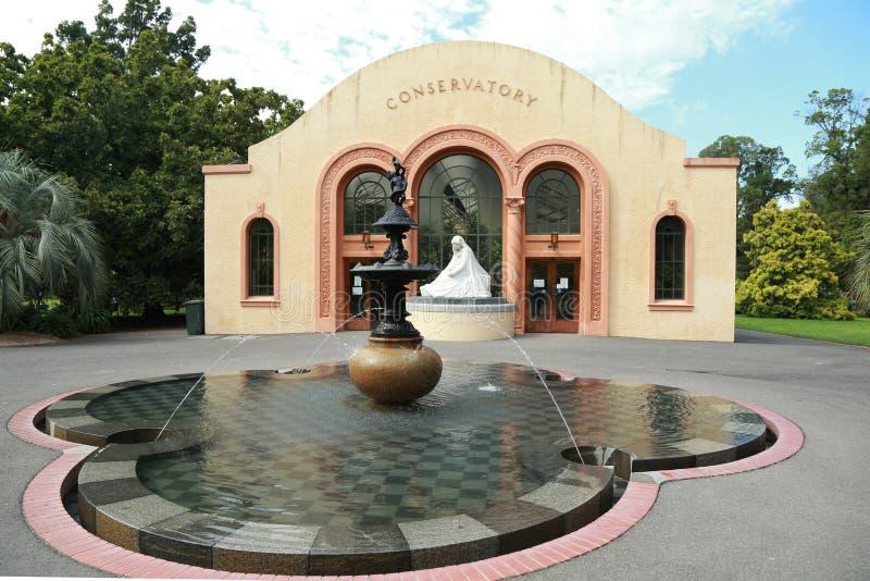 Консерватория в садах Fitzroy, Мельбурн стоковое изображение