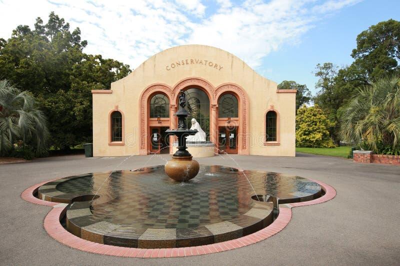 Консерватория в садах Fitzroy, Мельбурн стоковые изображения