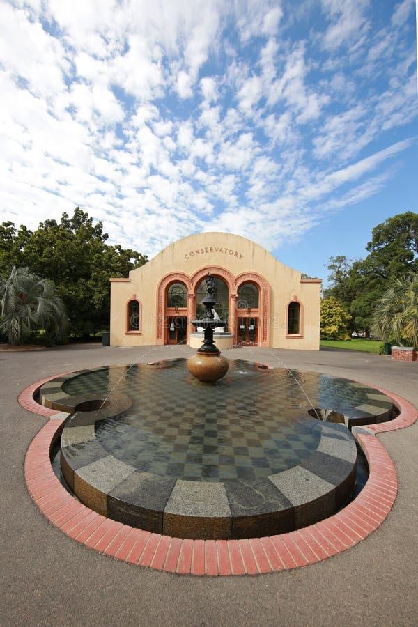 Консерватория в садах Fitzroy, Мельбурн стоковое фото rf