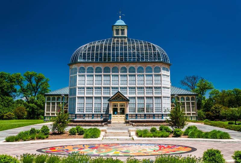 Консерватория Говарда Peters Rawlings, в парке холма друида, Балтимор стоковое изображение rf
