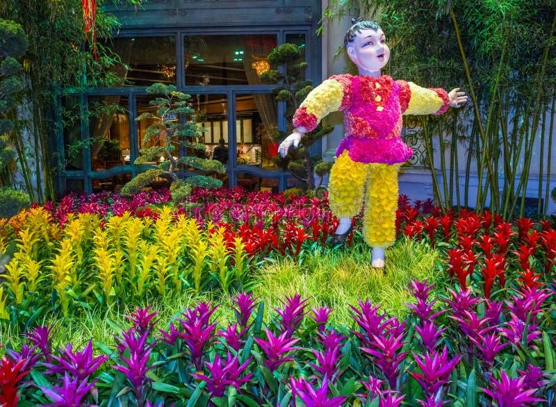 Консерватория гостиницы Bellagio & ботанические сады стоковое фото rf