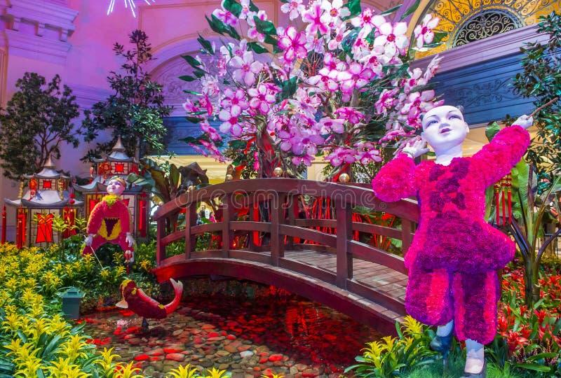 Консерватория гостиницы Bellagio & ботанические сады стоковая фотография