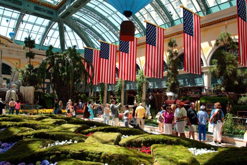 Консерватория и сад Bellagio, Лас-Вегас, США стоковое фото