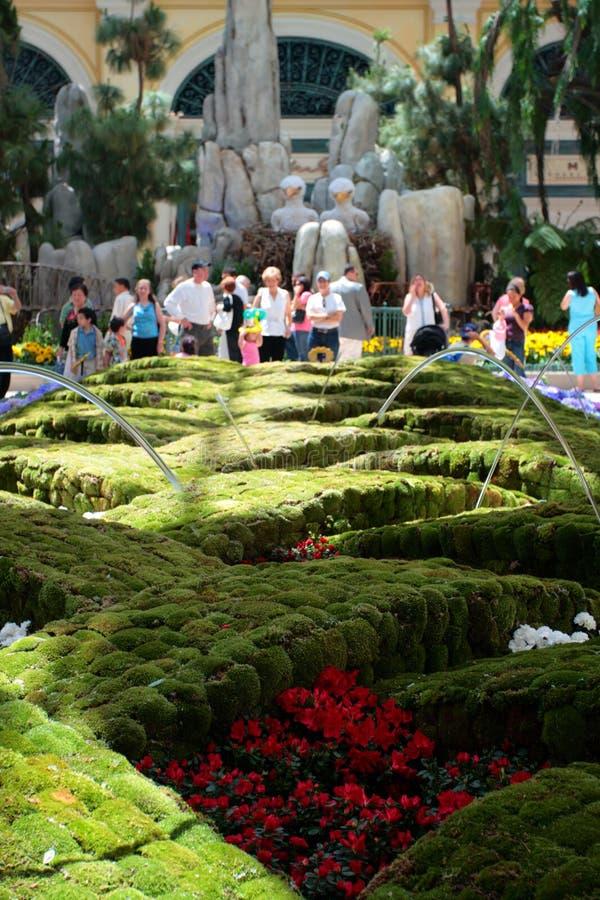 Консерватория и сад Bellagio, Лас-Вегас, США стоковые изображения rf