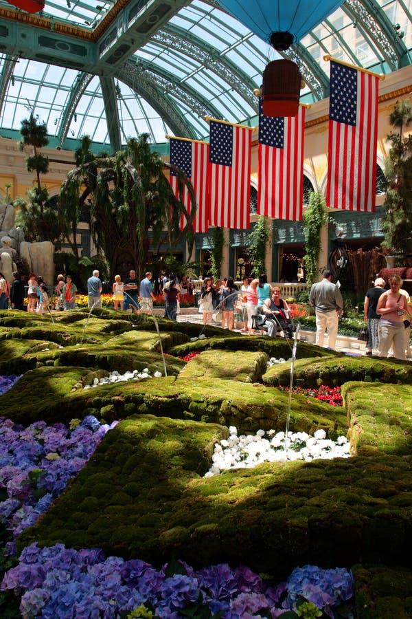 Консерватория и сад Bellagio, Лас-Вегас, США стоковые фотографии rf
