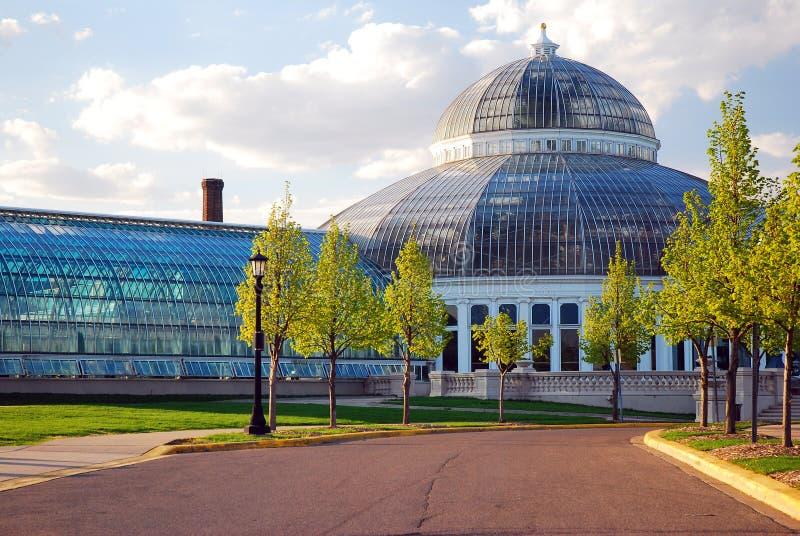 Консерватория парка Como, St Paul, Минесота стоковое изображение