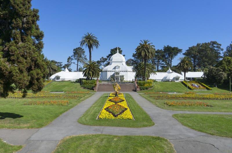 Консерватория цветков на Golden Gate Park стоковое фото