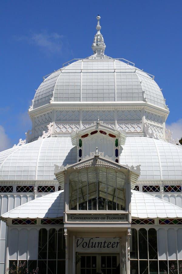 Консерватория цветков, Golden Gate Park в Сан-Франциско, Калифорнии стоковые фотографии rf