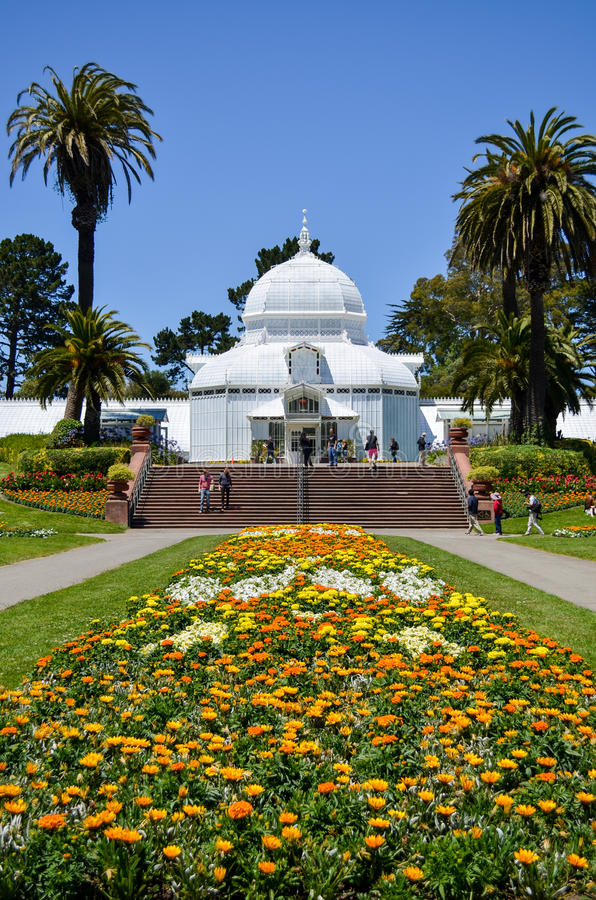 Консерватория цветков, Golden Gate Park, Сан-Франциско стоковые изображения