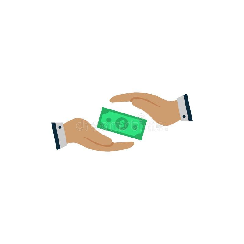Консервация валюты доллар безопасен в руках EPS10 бесплатная иллюстрация