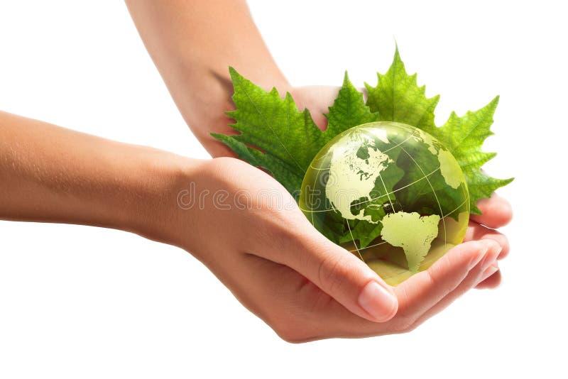 Консервация окружающей среды в ваших руках - США стоковое изображение